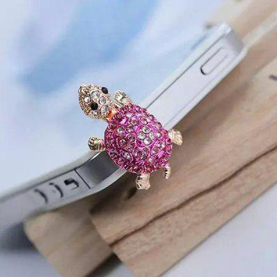 ENKAY Universal 3.5mm Diamond Tortoise Design Anti-dust Ear Cap Plug