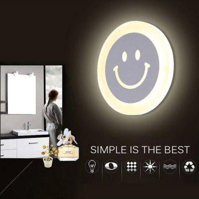 600LM 8W LED Modern Acrylic Smiling Face Wall Light