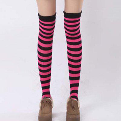 Pair of Chic Navy Style Stripe Pattern Stockings For Women