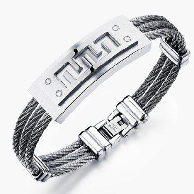 Layered Steel Cable Wire Bracelet