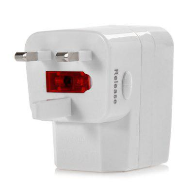 Protable 3 in 1 EK US EU Plug Power Adapter USB Wall Charger 100 - 250V  Input