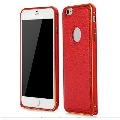 Slim PU Leather Back Cover Case with Metal Frame Buckle Bit Design for iPhone 6 Plus 6S Plus 5.5 inches