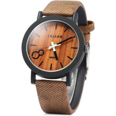 FEIFAN Big Number 8 Male Quartz Watch with Leather Band