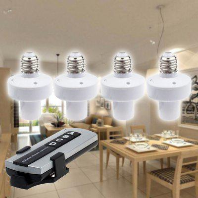 4 Pcs Remote Control Lamp Holder Base E27 Screw Type Lampholder for Home Toilet Cellar