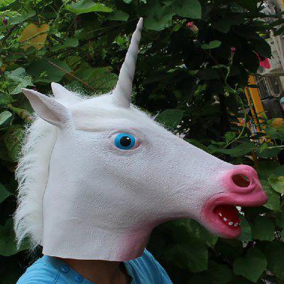 Halloween Latex Unicorn Head Mask