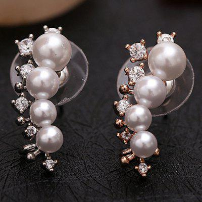 ONE PIECE Chic Faux Pearl Rhinestone Earring For Women