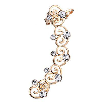 ONE PIECE Hollow Out Rhinestone Heart Ear Cuff