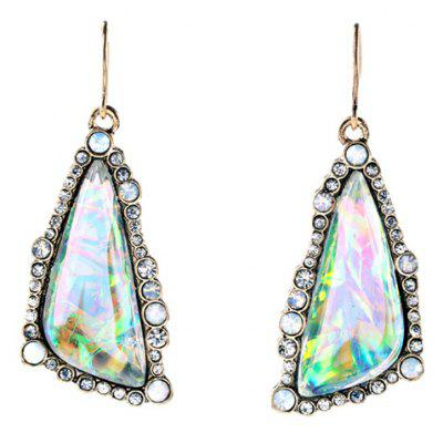 Pair of Vintage Rhinestone Triangle Women's Earrings