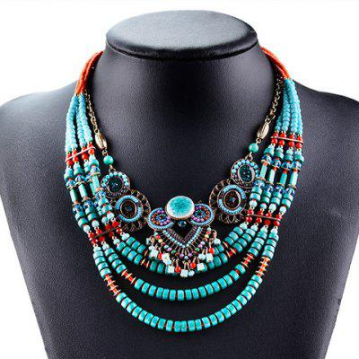 Beads Layered Round Necklace