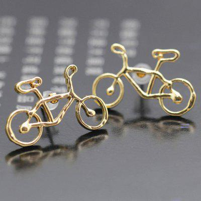Pair of Chic Solid Color Bicycle Shape Earrings For Women