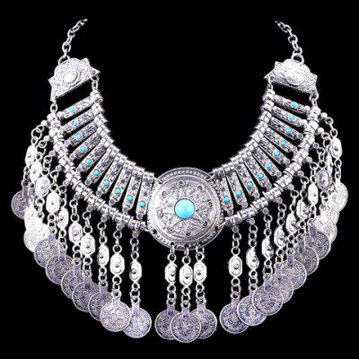 Vintage Coin Tassel Necklace For Women