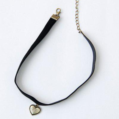 Retro Style Heart Shape Pendant Choker Necklace For Women
