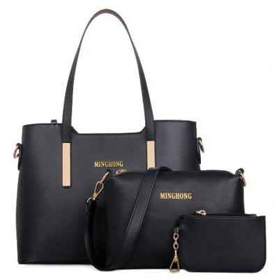 Elegant PU Leather and Metallic Design Women's Tote Bag