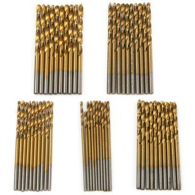 Straight Shank Twist Drill Bit Set - 50PCS