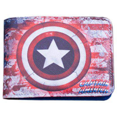 Stylish Super Hero and PU Leather Design Men's Wallet