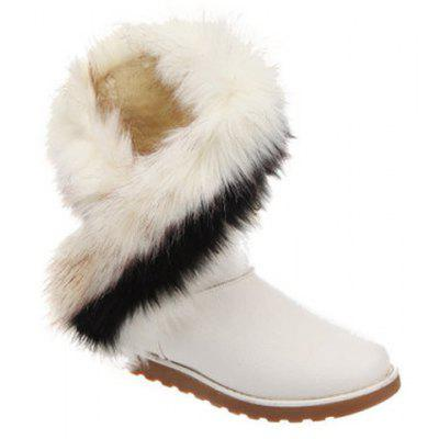 Faux Fur Design Snow Boots For Women