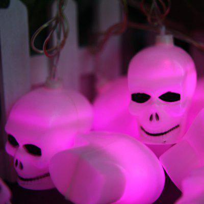 5m 20 LED Skull Head String Light Indoor / Outdoor Decorative Lighting