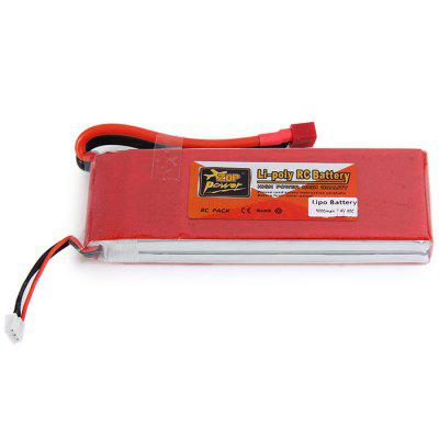 ZOP Power 7.4V 5000mAh 40C T Plug Lipo Battery for RC Car