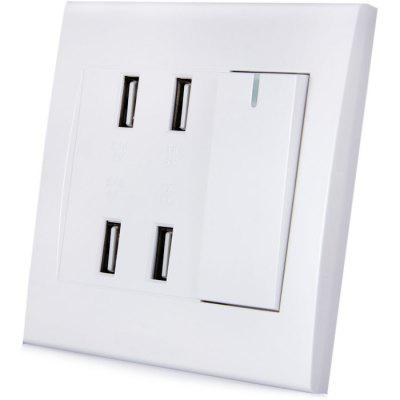 RNAi 904 USB Socket Wall Panel 4 Port