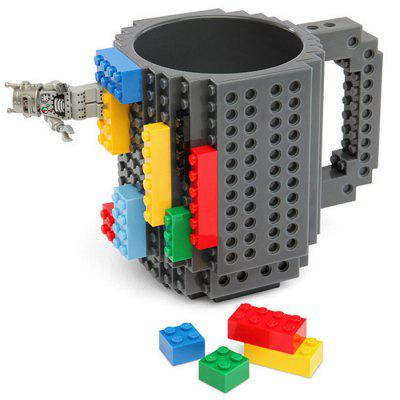 Build - on Brick Mug Creative DIY Puzzle Block Coffee Cup