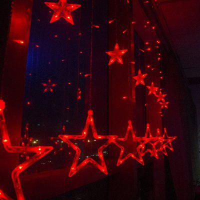 2M 138 LED Star Curtain Lights