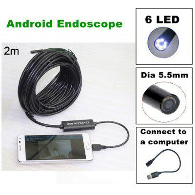 TS - E5502M 2m USB 2.0 Endoscope Water Resistant 480P 1.3 MP