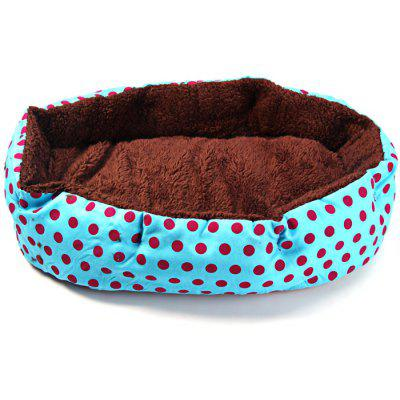 Dot Pattern Pet Dog Bed Doghouse
