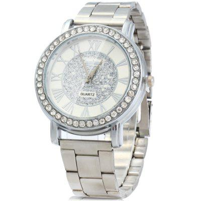 Kanima Diamond Bezel Quartz Watch with Stainless Steel Band for Men