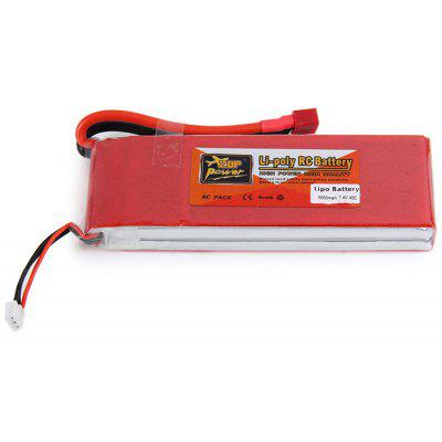 ZOP Power 7.4V 5000mAh 40C T Plug Lipo Batterie pour RC Car