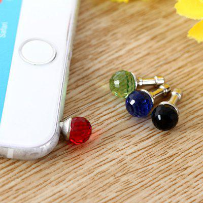 3.5mm Anti Dust Plug Gemstone Design Earphone Jack Cap 4Pcs