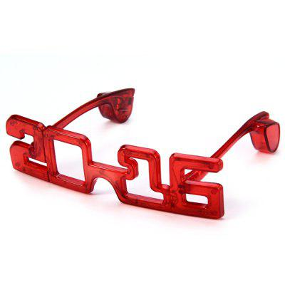 Cool Style Flashing LED GlassesBirthday Supplies<br>Cool Style Flashing LED Glasses<br><br>Color: Red<br>For: Student, Friends, Brothers, Sisters, Kids<br>Material: Plastic<br>Package Contents: 1 x Flashing LED Glasses<br>Package size (L x W x H): 27.8 x 11 x 3 cm / 10.93 x 4.32 x 1.18 inches<br>Package weight: 0.100 kg<br>Product size (L x W x H): 18.1 x 5.1 x 2.2 cm / 7.11 x 2.00 x 0.86 inches<br>Product weight: 0.055 kg<br>Usage: Party, Birthday, Christmas, Halloween, New Year