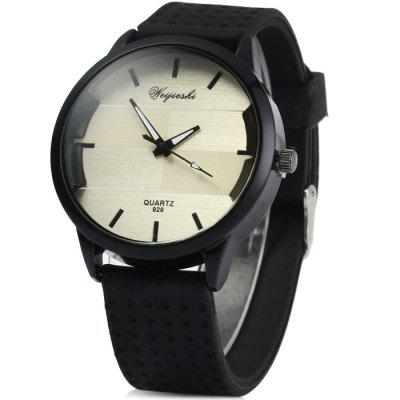 Weijieshi 929 Male Quartz Watch with Rubber Strap