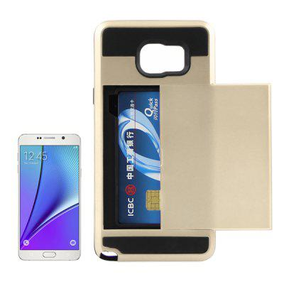 ENKAY High-definition Film PET Material Protective Back Case Cover with Card Slot for Samsung Galaxy Note 5 N9200