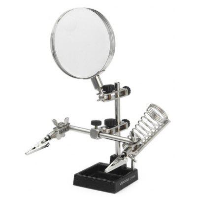 LODESTAR L316248 Soldering Stand with 2X 87mm Magnifier