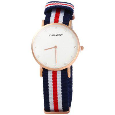 Cagarny 6813 Male Japan Quartz Watch with Canvas BandMens Watches<br>Cagarny 6813 Male Japan Quartz Watch with Canvas Band<br><br>Band material: Canvas<br>Brand: Cagarny<br>Case material: Stainless Steel<br>Clasp type: Pin buckle<br>Display type: Analog<br>Movement type: Quartz watch<br>Package Contents: 1 x Cagarny 6813 Watch<br>Package size (L x W x H): 26 x 4.5 x 2 cm / 10.22 x 1.77 x 0.79 inches<br>Package weight: 0.059 kg<br>Product size (L x W x H): 25 x 3.5 x 1 cm / 9.83 x 1.38 x 0.39 inches<br>Product weight: 0.029 kg<br>Shape of the dial: Round<br>The band width: 1.8 cm / 0.71inches<br>The dial diameter: 3.5 cm / 1.38 inches<br>The dial thickness: 1.0 cm / 0.39 inches<br>Watch color: Red + White + Blue, Pink + White, Pink + Blue, Red + Blue, Blue + White<br>Watch style: Fashion<br>Watches categories: Male table<br>Wearable length: 14 - 21.5 cm / 5.51 - 8.46 inches