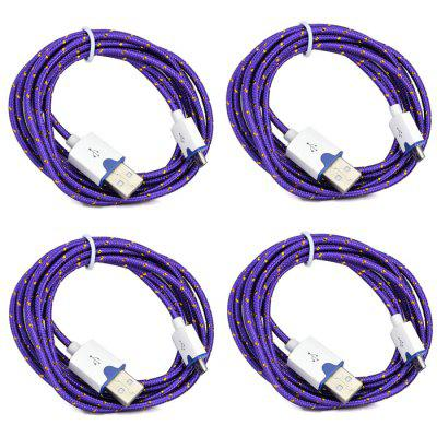 Micro USB 2.0 Male to Male Charging Data Cable - 4PCS