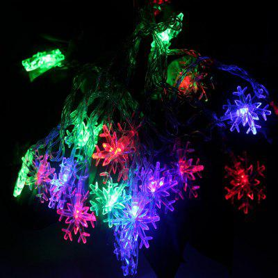 4m 20 LED Snowflake String Light