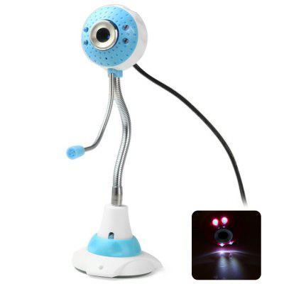 USB 2.0 Webcam Video Camera with Microphone