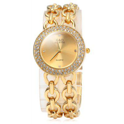Buy GOLDEN GND Diamond Women Quartz Chain Watch with Stainless Steel Strap for $16.63 in GearBest store