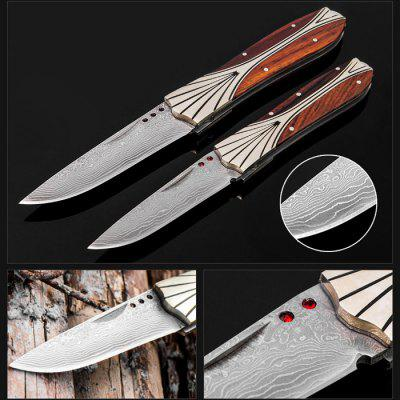 CIMA T5 Damascus Folding Knife