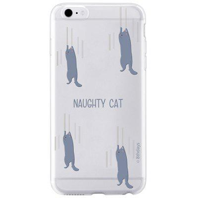 Ultrathin Pets Paradise Series Naughty Cat Patern TPU Protective Cellphone Back Case for iPhone 6 Plus