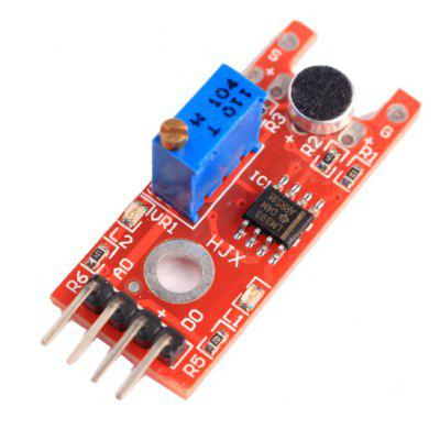 Buy RED Microphone Voice Sound Sensor Module for $2.39 in GearBest store