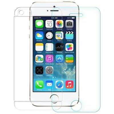 Buy TRANSPARENT Nillkin 3 in 1 9H 0.33mm Tempered Glass Front Screen Protector with Rear Back Film Camera Film Set for iPhone 5 5S SE for $6.36 in GearBest store