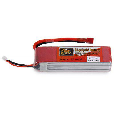 ZOP Power 11.1V 2800mAh 30C T Plug Lipo Battery