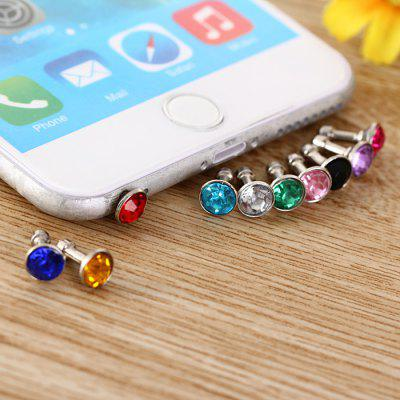 3.5mm Anti Dust Plug Diamond Design écouteur Jack Cap 10Pcs