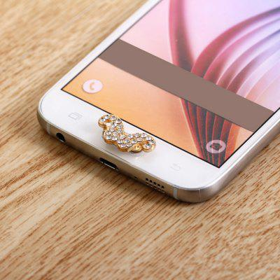 Beard Design Mobile Phone Button Sticker Key Cover Ornament for Samsung Note 5 S6 Edge Plus Note 4 3 S5 S4 etc.