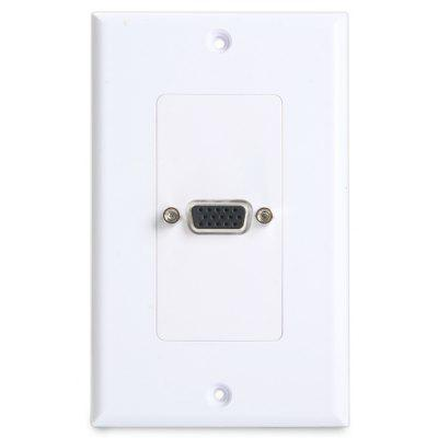 Single VGA Female to Female Wall Plate