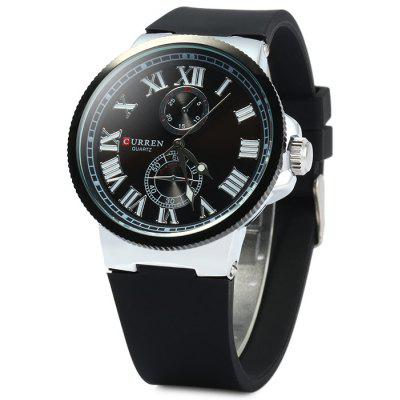 Curren 8160 Male Quartz Watch with Gear Case Rubber Band