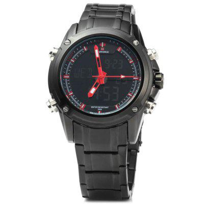 Naviforce NF9050M Men Japan Movt WatchSports Watches<br>Naviforce NF9050M Men Japan Movt Watch<br><br>Available Color: White,Red,Blue,Yellow<br>Band material: Stainless Steel<br>Brand: Naviforce<br>Case material: Stainless Steel<br>Clasp type: Folding clasp with safety<br>Display type: Analog-Digital<br>Hour formats: 12/24 Hour<br>Movement type: Double-movtz<br>Package Contents: 1 x Naviforce NF9050M LED Sports Watch<br>Package size (L x W x H): 23 x 5.2 x 2.3 cm / 9.04 x 2.04 x 0.90 inches<br>Package weight: 0.211 kg<br>People: Male table<br>Product size (L x W x H): 22 x 4.2 x 1.3 cm / 8.65 x 1.65 x 0.51 inches<br>Product weight: 0.161 kg<br>Shape of the dial: Round<br>Special features: Day, Stopwatch, IP plating, Date<br>The band width: 2 cm / 0.79 inches<br>The dial diameter: 4.2 cm / 1.65 inches<br>The dial thickness: 1.3 cm / 0.51 inches<br>Watch style: Outdoor Sports, LED<br>Water resistance: 30 meters