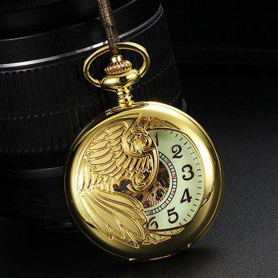 Hollow-out Automatic Mechanical Pocket Watch